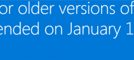 End of Internet Explorer Support